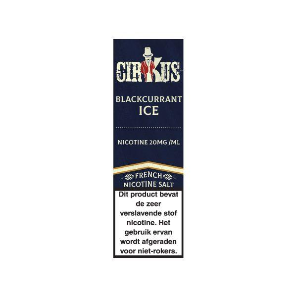 Cirkus Blackcurrant ice nic salt e-liquid