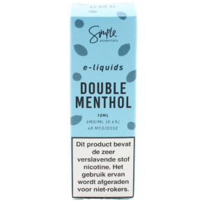 Simple essentials Double Menthol e-liquid
