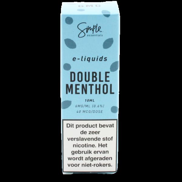 Simple essentials Double Menthol e-liquid