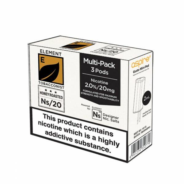 Element Tobacconist NS20 POD 3x